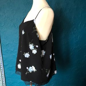 Mossimo Supply Co. Tops - Mossimo Floral Print Adjustable Strap Camisole